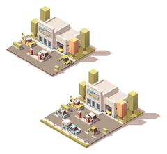 Vector isometric car Service Stock Illustration