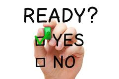 Ready Yes Or No Check Mark Concept - stock photo