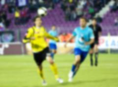 Blurred soccer action Stock Photos