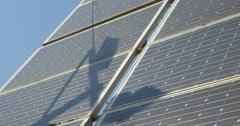 Solar battery panels Stock Footage
