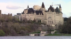 Chateau Hotel Stock Footage
