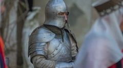 A knight in armour - stock footage
