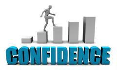 Confidence - stock illustration