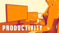 Productivity Concept Course Stock Illustration