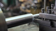 Turning lathe in action. Stock Footage
