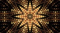 Kaledoscope Golden Stock Footage