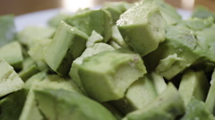 Sliced avocado - closeup shot Stock Footage
