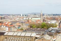 Aerial view of Dublin, Ireland - stock photo