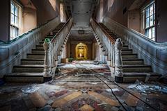 Abandoned psychiatric hospital - stock photo