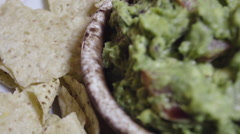 Fresh homemade Guacamole and tortilla chips. - stock footage