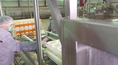 Cheese production plant Stock Footage