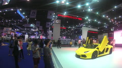 People attends in the 37th Bangkok International Motor Show in Bangkok Stock Footage