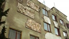 Soviet building exterior Stock Footage