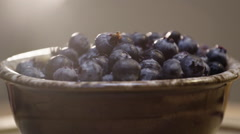 Brunch time blueberries ready to eat - stock footage