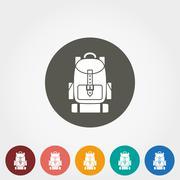 Travel backpack icon - stock illustration