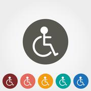 Disabled icon - stock illustration