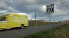 Moody Speeding Ambulance Stock Footage