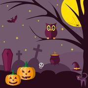 Halloween. Flat Stock Illustration
