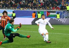 UEFA Champions League game Shakhtar vs Real Madrid - stock photo