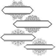 Flourshes Frame Set. - stock illustration