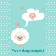 In love Sheep Piirros