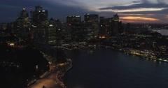Sydney Opera House, Sydney Harbour Bridge, Drone Stock Footage