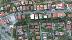 4K Aerial View Of Neighborhood Captured by Drone Cam Stock Footage