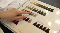 Choice of Color For the Hair Stock Footage