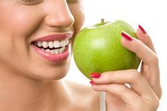 Healthy smile with white teeth Stock Photos