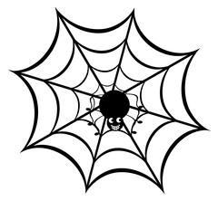 funny spider - stock illustration