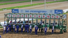 Race at the Moscow Hippodrome - stock footage