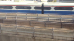 Sky train moving on rail Stock Footage