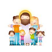 catholic religion design - stock illustration