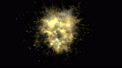 4k Explosion particle mist gas steam smoke fire hot energy fireworks background Stock Footage