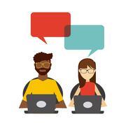 user technology design - stock illustration