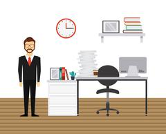 office equipment  design - stock illustration