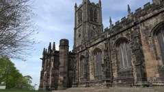 Lancaster Priory Church Stock Footage