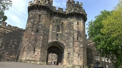 HMP Lancaster castle entrance, Lancaster, Lancashire, circa may 2016 Stock Footage