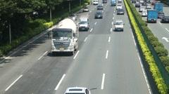 Shenzhen 107 National Highway Traffic landscape Stock Footage