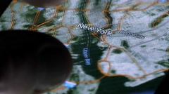 NEW YORK, USA - MAY 2016: Maps and Google Earth on a mobile smartphone device Stock Footage