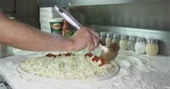 Margherita Pizza Timelapse Stock Footage