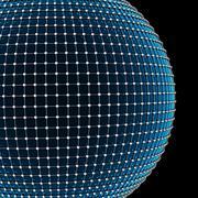 3D illustration Abstract Sphere Molecule Structure. Stock Illustration