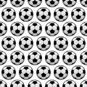 Balls for football or soccer game seamless pattern Piirros
