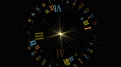 4k Roman number,rays star light,energy particles fireworks background,tech time Stock Footage