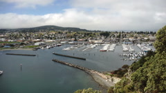 Puget Sound Fidalgo Bay Anacortes Washington Cap Sante Park Marina Stock Footage