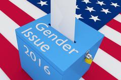 Gender Issue election concept Stock Illustration