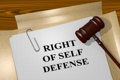 Right of Self Defense concept - stock illustration