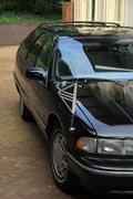 Black hearse - stock photo