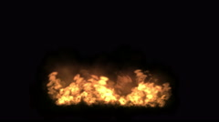 4k Fire particles fireworks hot flame background. Stock Footage