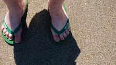 Quicksand Submerging Feet Stock Footage